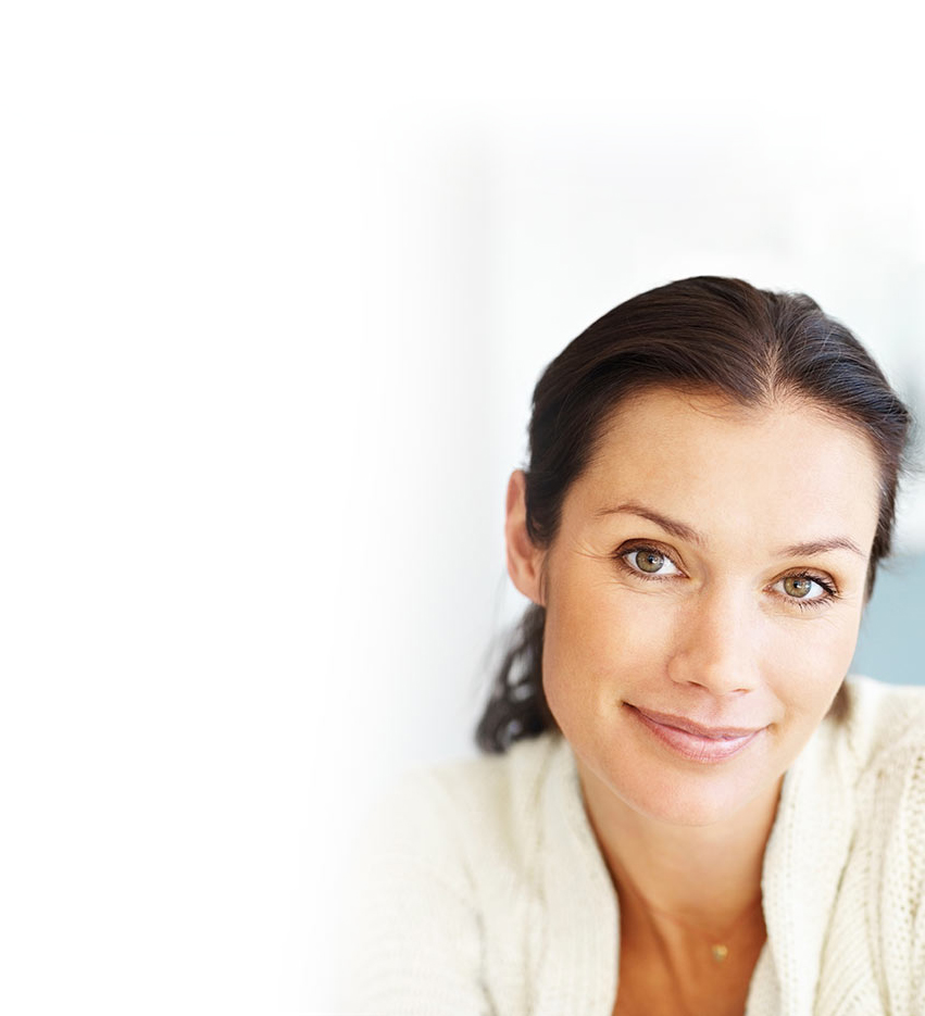 Frau mit gesunder Haut